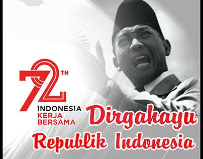Poster HUT RI 72 Dirgahayu Kemerdekaan Indonesia