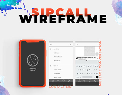 SIPcall wireframe