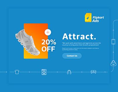 Flipkart Ads - Website UX   UI