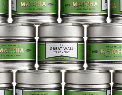 The Great Wall Tea Co. Matcha Packaging Design