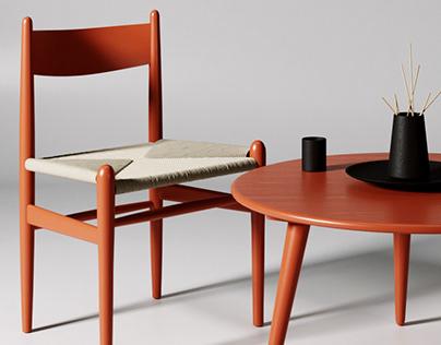 Carl Hansen / Product rendering