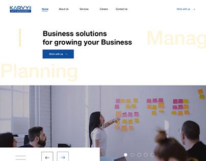 Karvy Homepage redesign