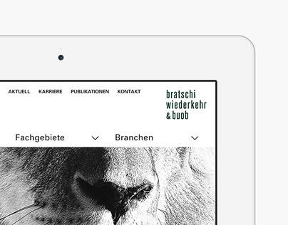 Bratschi Wiederkehr & Buob Website