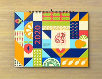календарь на 2020г для компании Ингредико