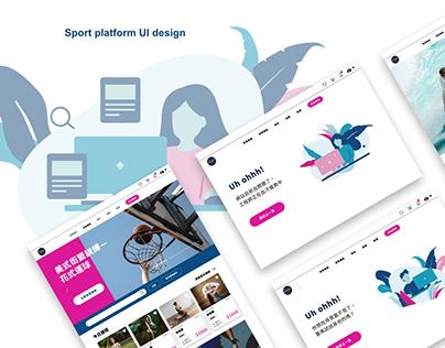 Sports course matching platform.