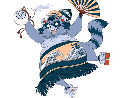 Character Design - Tanuki (Japanese Yokai)