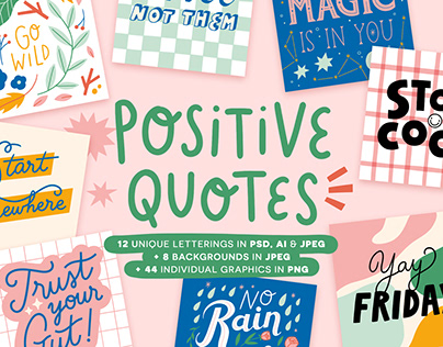 Positive Quotes Pack on Creative Market