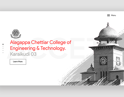 Minimalistic landing page for my college's website.