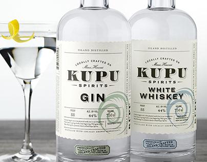Kupu Spirits Packaging Design & Logo