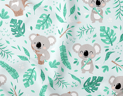 Koala Bear - cute textile pattern for kids