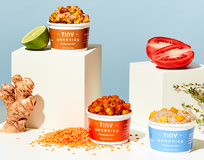 Tiny Organics Baby Food Packaging