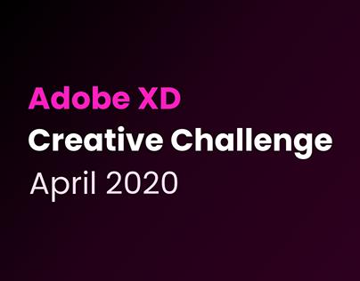 Adobe XD Creative Challenge April 2020