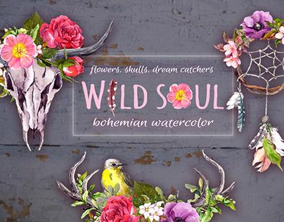 Wild soul - bohemian watercolor