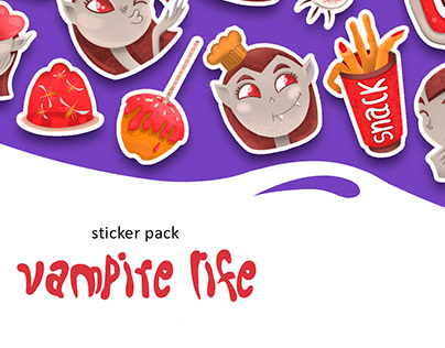 Vampire Life Sticker Pack