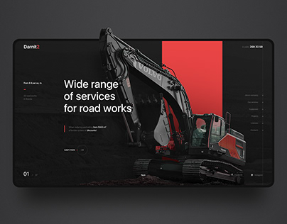 Darnit2.Construction company. Web-design & Animation
