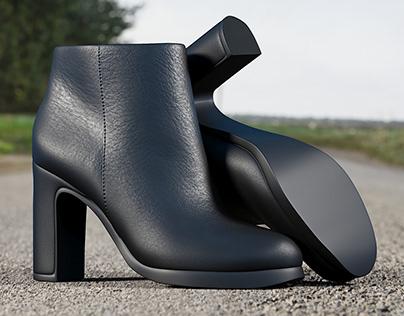 Realistic 3D model of Women's Shoes