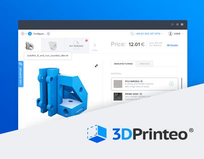 3DPrinteo web app.