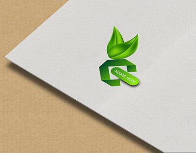 C letter mark logo leaf