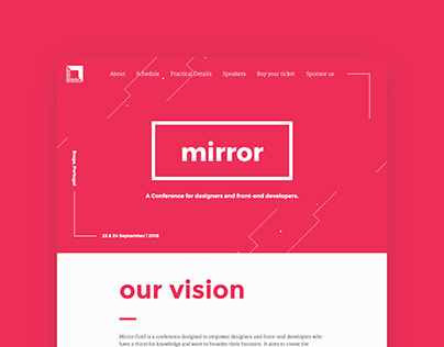 Mirror Conf Website