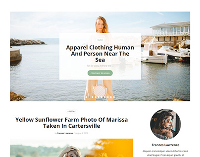 Ephesus Personal Blog WordPress Theme