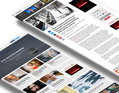 Salon Media Site Redesign