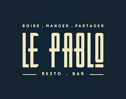 Identité visuelle du Pablo Resto Bar