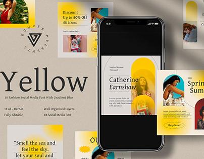 Yellow Instagram Posts & Stories Templates