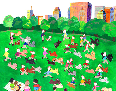 Dogs at Central Park