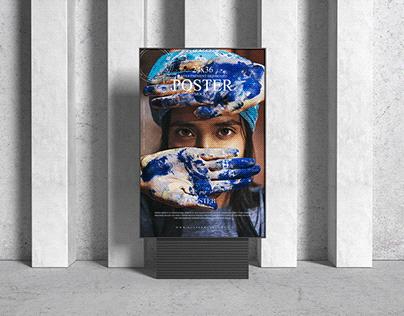 Signboard 24x36 Poster Mockup Free