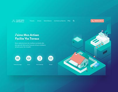 Landing Page Design for J'aime Mon Artisan