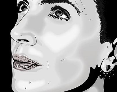Vector Portrait of Anabela Mota Ribeiro