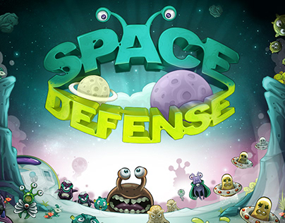 Space Defense Game UI and Assets