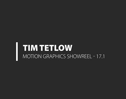 Tim Tetlow Motion Graphics Showreel 2017 .1