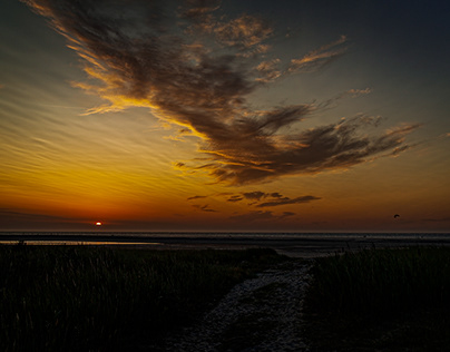 Sunset on Schiermonnikoog