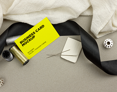 Tailor Business Cards Mockup