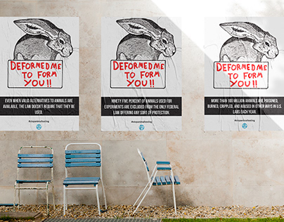 Stop animal testing Ad campaign