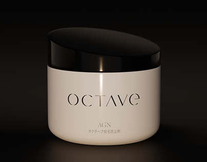 Octave night facial cream packaging design concept