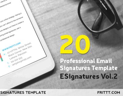 Professional Email Signatures Template-ESignatures Vol2