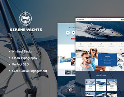 Sirene   Yacht Charter Services & Boat Rental WP Theme