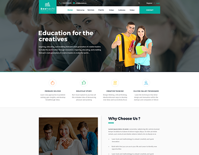 BEEHACHI - Professional Education-Premium PSD Template