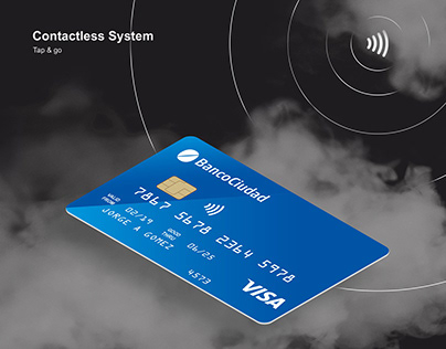 Free Contactless Credit Card Mockup