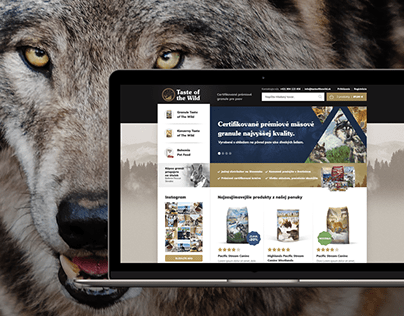 Website Design for the eshop with Pet Food