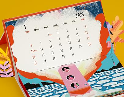 "Adobe × LxU 2019 ""OLYMPIG"" Calendar"