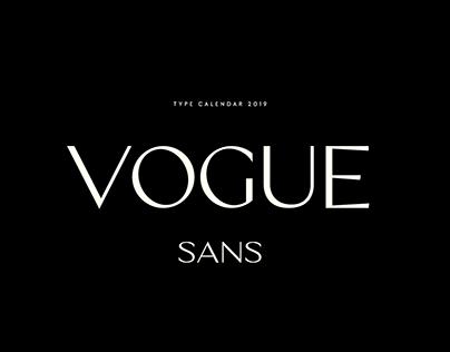 Vogue Sans Typeface