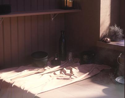 Nature morte Cinema4D+Octane render