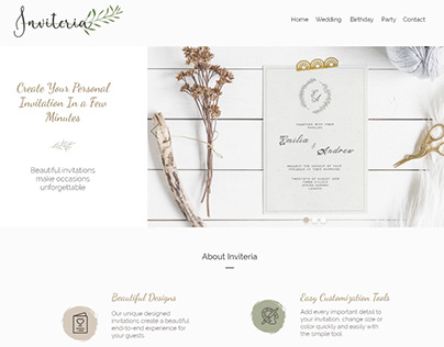 Web Design Project of Online Invitations Store