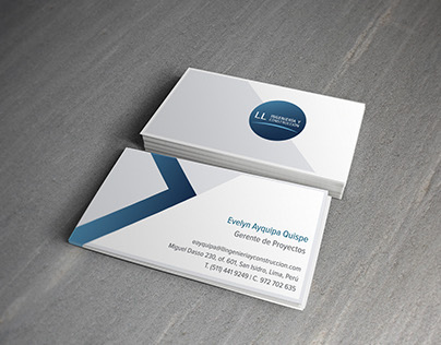 Business card: LL Ingeniería & Construcción