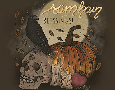 Greeting Card: Samhain Blessings