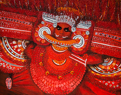 THEYYAM- Acrylic on canvas