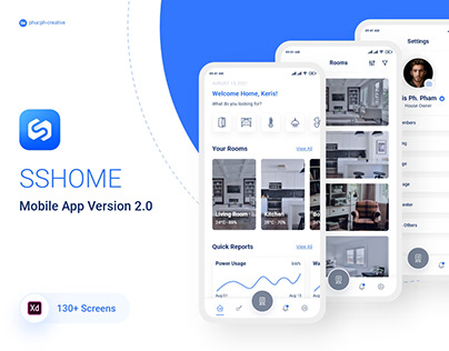 SSHome Version 2.0 - Smart Home Mobile App UI Kit